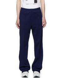 Maison Margiela - Blue Track Trousers - Lyst