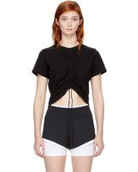 T By Alexander Wang - Black High Twist T-shirt - Lyst