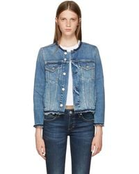 AMO - Indigo Denim Lola Jacket - Lyst