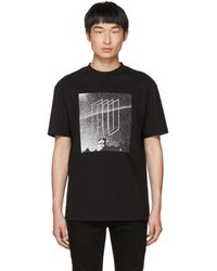 McQ - Black Dropped Shoulder Graphic T-shirt - Lyst