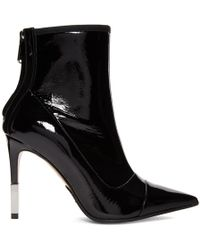Balmain - Black Patent Blair Boots - Lyst