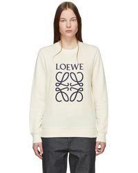 Loewe - Off-white Anagram Sweatshirt - Lyst
