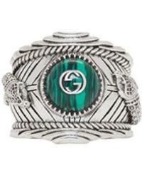 Gucci - Silver Garden Ring - Lyst