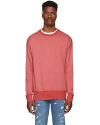 John Elliott - Red Vintage Fleece Sweatshirt - Lyst