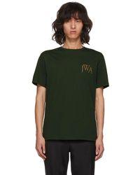 JW Anderson - Green Logo T-shirt - Lyst