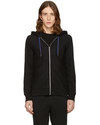 PS by Paul Smith - Black Cotton Hoodie - Lyst