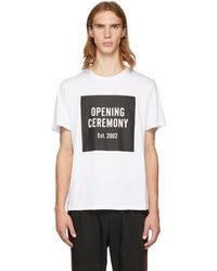 Opening Ceremony - White Logo T-shirt - Lyst