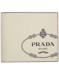 59055414221 Gucci. Guccy Bifold Wallet.  518. Flannels · Prada - Off-white Logo Print  Wallet - Lyst
