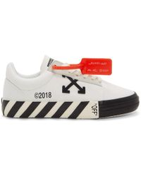 Off-White c/o Virgil Abloh - White Striped Vulcanized Trainers - Lyst
