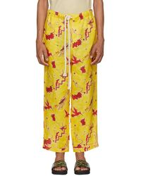 Loewe - Pantalon jaune Bird Pyjama edition Paulas Ibiza - Lyst