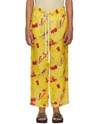 Loewe - Yellow Paulas Ibiza Edition Bird Pyjama Trousers - Lyst