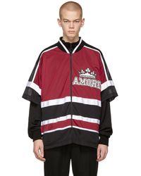 Dolce & Gabbana - Red And Black Amore Dgmillennials Zip-up Jacket - Lyst