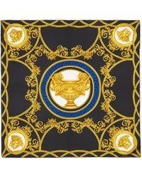 Versace - ブラック シルク メドゥーサ スカーフ - Lyst