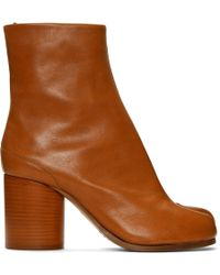 Maison Margiela - Brown Tabi Boots - Lyst