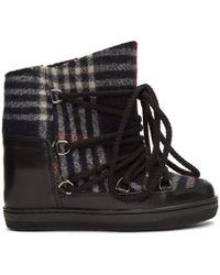 Isabel Marant - Black And Navy Nowles Boots - Lyst