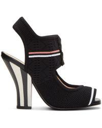 Fendi - Black Stretch Sock Sandals - Lyst
