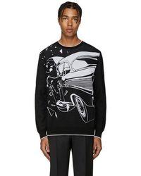Christopher Kane - Black Car Crash Sweater - Lyst