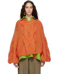 Loewe - Orange Cable Sweater - Lyst