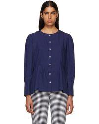 A.P.C. - Indigo Herman Shirt - Lyst