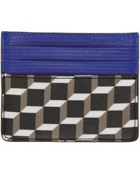 Pierre Hardy - Black And Blue Cube Card Holder - Lyst