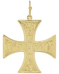 Enfants Riches Deprimes - Silver Logo Cross Earring - Lyst