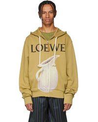 Loewe - Beige Logo Pottery Hoodie - Lyst