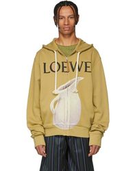 Loewe - Pull a capuche et logo beige Pottery - Lyst