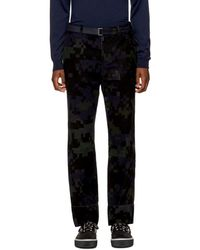 Sacai - Black Camouflage Trousers - Lyst