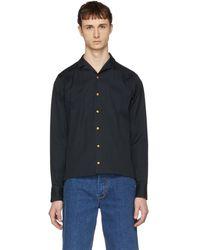 Kolor - Navy Button Down Shirt - Lyst