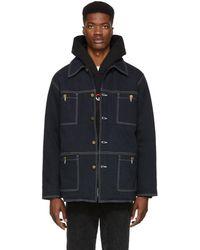 Noon Goons - Navy Denim Oxnard Chore Jacket - Lyst
