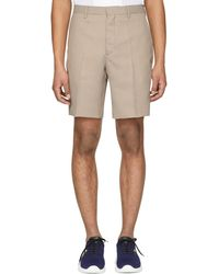 Fendi - Brown And Beige Micro Houndstooth Bermuda Shorts - Lyst