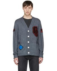 Opening Ceremony - Grey Limited Edition Varsity Cardigan - Lyst