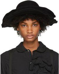 Comme des Garçons - Black Scha Edition Double Brim Wool Felt Hat - Lyst