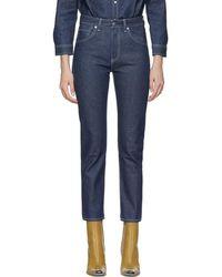 Levi's - Ssense Exclusive Indigo Slim Jeans - Lyst