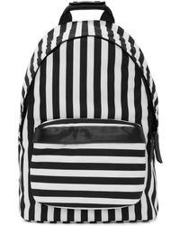 AMI - Black & White Striped Backpack - Lyst