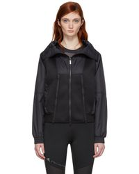 adidas By Stella McCartney - Black Train High Collar Jacket - Lyst