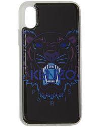 KENZO - Etui pour iPhone Xand noir Tiger - Lyst