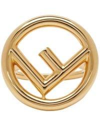Fendi - Gold F Is Ring - Lyst