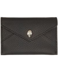 Alexander McQueen - Black Envelope Card Holder - Lyst