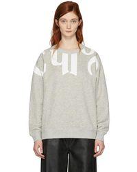 Chloé - Grey Writing Sweatshirt - Lyst