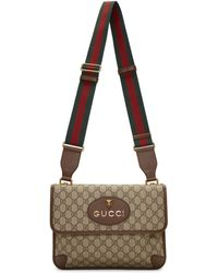 Gucci - Brown Neo Vintage Foldover Bag - Lyst