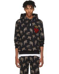 Dolce & Gabbana | Black Leopard Hoodie | Lyst