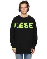 DIESEL - Black K-logox Sweater - Lyst