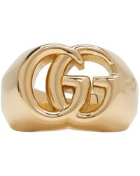 Gucci - Gold Gg Running Ring - Lyst