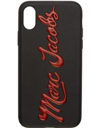Marc Jacobs - Black Glossy Logo Iphone X Case - Lyst