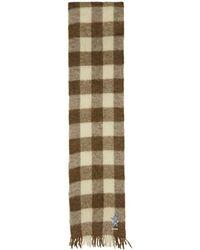 Gucci - Foulard en laine a carreaux brun et blanc Long - Lyst