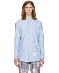 Thom Browne - Blue Anchor & Fish Classic Shirt - Lyst