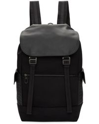 Bottega Veneta - Black Hi-tech Canvas Sassolungo Backpack - Lyst