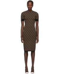 Fendi Black And Brown Forever Dress