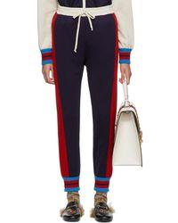 Gucci - Blue Stripe Track Pants - Lyst